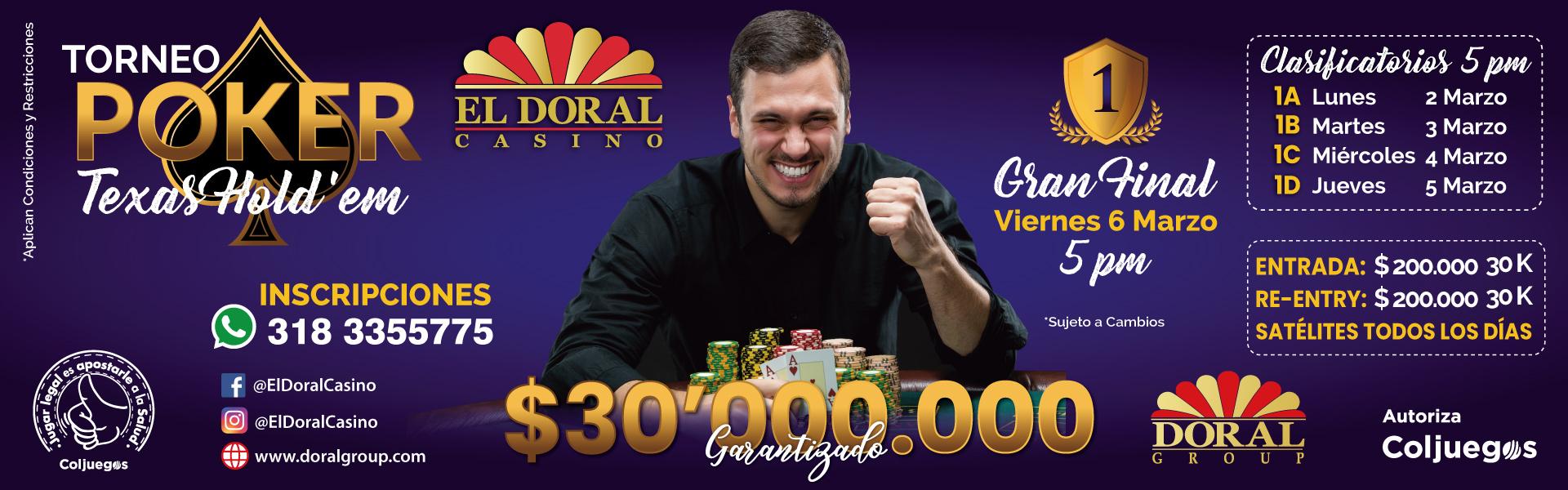 torneo poker texas hold'em, el doral casino